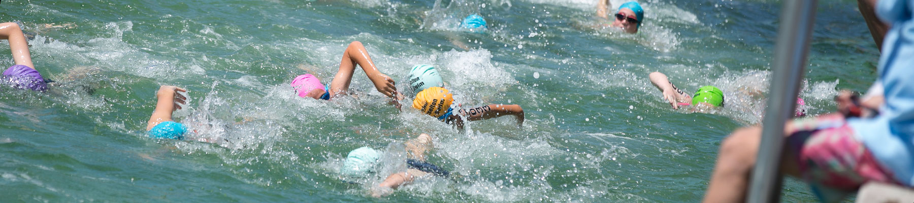 page header kids swimming